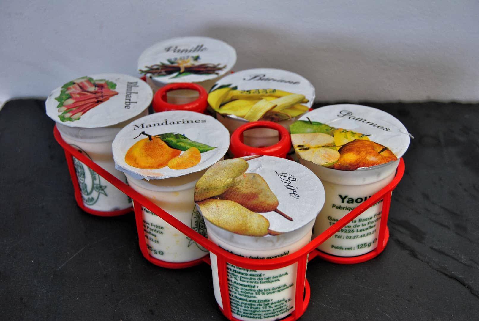 Yaourt fermier fruits jaunes assortis x6 le drive des 4 for Porte yaourt