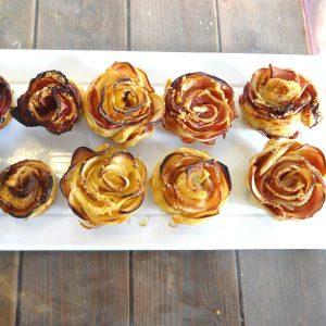 Tartelettes aux pommes en fleurs