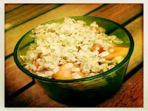 Crumble de pommes/poires