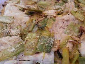 Filet de poisson léger aux poireaux