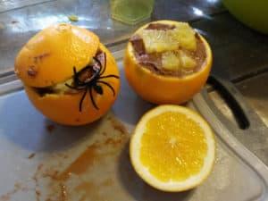 Oranges à la mousse chocolat-potimarron
